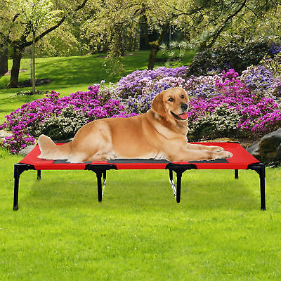 "PawHut 48"" x 36""x 9"" Elevated Pet Bed Foldable Raised Dog Cot with Carrying Bag"