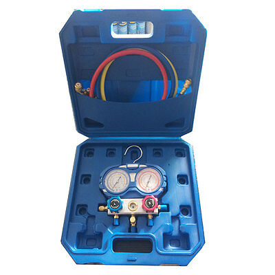 Refrigeration Air Conditioning Diagnostic Manifold Gauge ToolSet R134A-410A-R407