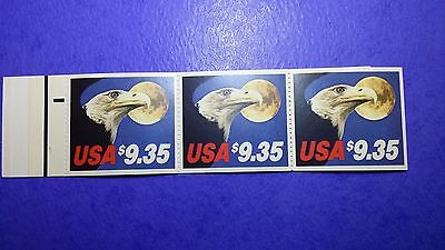 Eagle & Moon Usps Pane Of 3 Stamps -Mint Condition- Vending Booklet Scott#bk140B