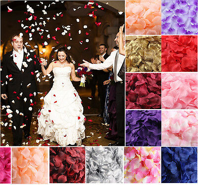 Artificial Silk Rose Petals Fake Flower Wedding Table Decorations Confetti