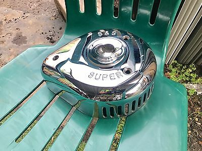Harley Davidson S And S Chrome Teardrop Air Cleaner Cover Super E G Carb