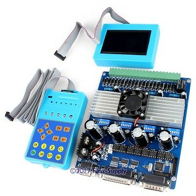 New 4 Axis CNC Stepper Motor Driver TB6560 Set + LCD Display + Handle Controller