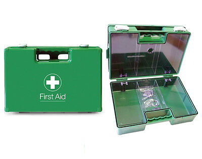 Empty Deluxe First Aid Kit Box w/ Perspex Cover & Wall Mounting Bracket