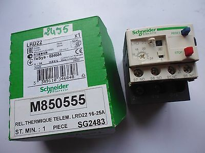 LRD22 schneider electric TeSys 034684 relais thermique thermal overload 16-24 A