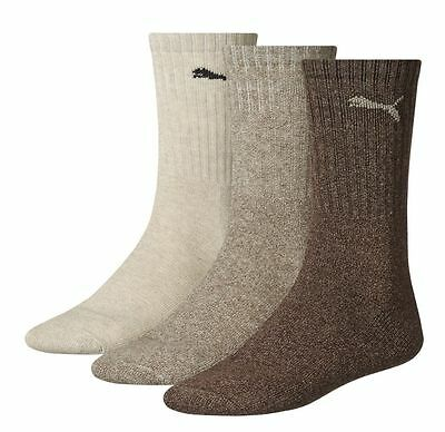 Puma Sport 3 Pair Socks Chocolate / Walnut / Safari