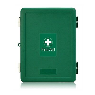 Empty Fast Check First Aid Kit Box - Lockable, Wall Mountable - Easy to Re-Stock
