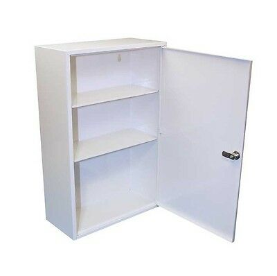 Empty Metal First Aid Kit Cabinet - Lockable, Wall Mountable - Easy to Re-Stock