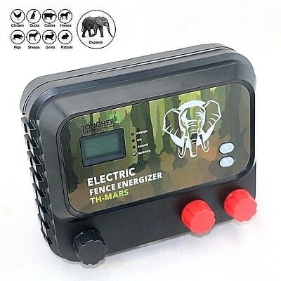 Electric Fence Energizer Charger 8J+LCD display High Power Farm & Wildlife Park