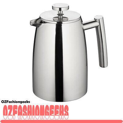 100% AUTHENTIC AVANTI Modena S/S Twin Wall Coffee Plunger 1000ml 8 Cup