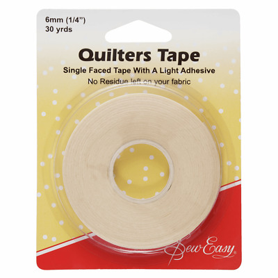 "Quilters Tape 27m x 6mm (1/4"") Guide when quilting for evenly spaced Stitches"