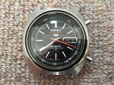 6c2f1a796 VINTAGE SEIKO 5 Sports Speed Timer 7017-6010 Automatic serviced VG ...