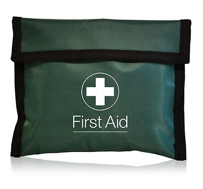 Empty Green First Aid Envelope Flat Pouch - Work Travel Home HSE Sports Kit Bag