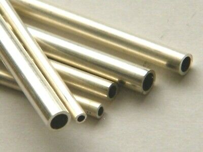 Sterling Silver Seamless Tube Straight Length Annealed 2.0mm dia.x 200mm length