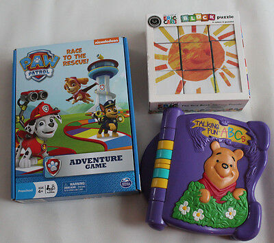Eric Carle the Very Books Block Puzzle, Paw Patrol Game , Talking Fun ABC Disney