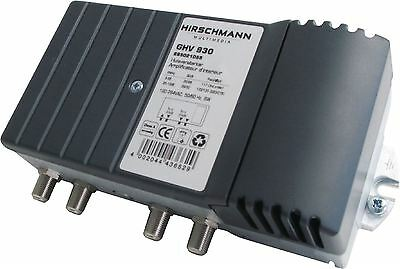 Hirschmann Catv amplifier 30db single + return path with measurement ports