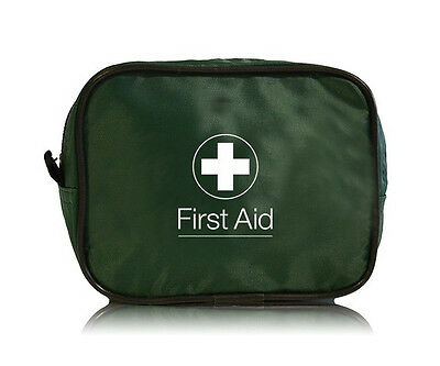Empty First Aid Zip Bag - Dark Green - Work Travel Home HSE Sports Office Kit