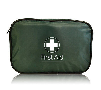 Empty Large First Aid Zip Bag - Dark Green - Work Travel Home HSE Sports Kit