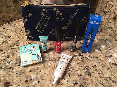 Ipsy Glam Bag Great 4pc Benefit, Ciate, Eyeko, Hey Honey & a Great Cosmetic Bag!