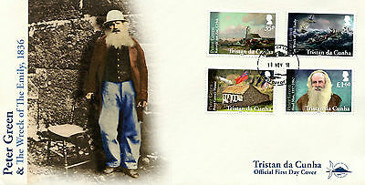 Tristan da Cunha 2016 FDC Peter Green Wreck of Emily 4v Cover Boats Ships Stamps