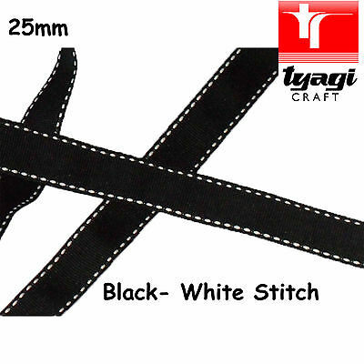 25mm Poly Poly-Cotton Tape Strap  Webbing Stitch Dressmaking Gift Wrapping