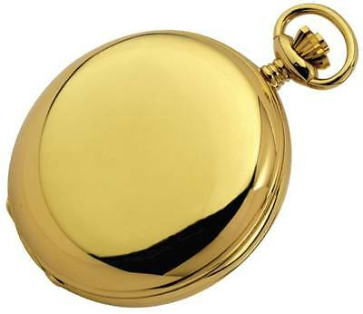 Woodford Gold Plated Polished Full Hunter Roman Swiss Pocket Watch - Gold