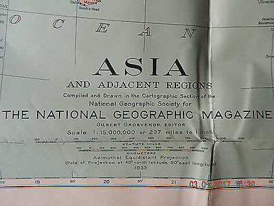 Map of Asia 1933