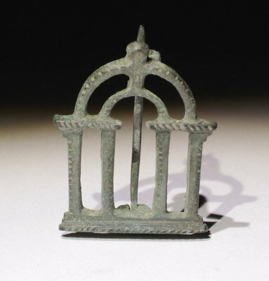 Quality Ancient Roman Bronze Temple Plate Brooch - Circa 2Nd-3Rd Century Ad
