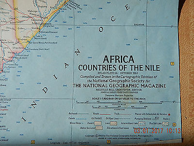 Map: Africa, Countries of the Nile 1963