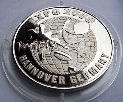 Medaille zur EXPO Hannover Weltausstellung Germany 2000 Silber (NK)