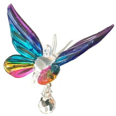 Fantasy Glass Butterfly Suncatcher With A Swarovski Crystal - Tropical