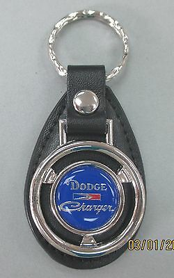 Red Dodge CHARGER Mini Steering Wheel Leather Key Ring 1976 1977 1978 1981 1982