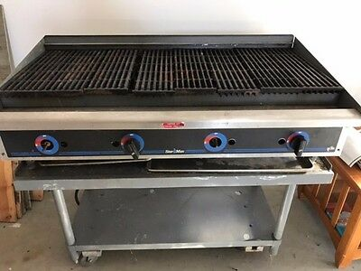 Star Manufacturing - 6048CBF - Star -Max® 48 in Lava Rock Charbroiler w stand