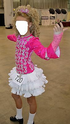 Siopa Rince Irish Dance Dress - Pink & White- great condition
