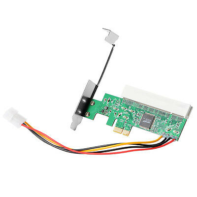 X1 X4 X8 X16 PCIE to PCI Adapter Card 4Pin IDE Molex Power Asmedia ASM1083 AC385