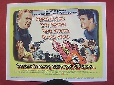 8 lobby cards SHAKE HANDS WITH THE DEVIL 1959 JAMES CAGNEY - DON MURRAY