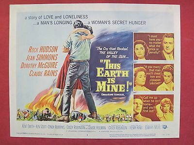 8 lobby cards THIS EARTH IS MINE 1959 ROCK HUDSON - JEAN SIMMONS -