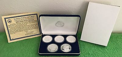 Morgan Silver Dollar Proof Set 1889-CC 1895 1893-O 1893-S 1878 PLUS FREE GIFT!