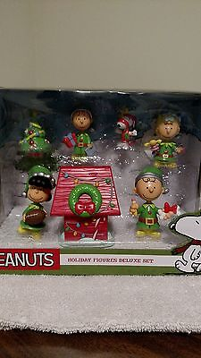 Peanuts Charlie Brown Christmas Holida 7 Piece Deluxe Set 2015 NEW FREE Shipping