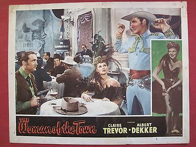 8 lobby cards THE WOMAN OF THE TOWN 1943 CLAIRE TREVOR - ALBERT DEKKER