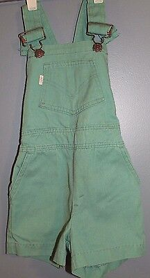 """LEVIS Very Cute Green Kid's Overall Shorts (18"""" Waist) FREE SHIPPING!!!"""