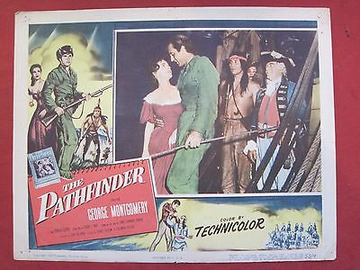 2 lobby cards THE PATHFINDER 1953 GEORGE MONTGOMERY - HELENA CARTER