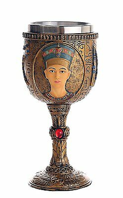 Egyptian Queen Nefertiti Royal Wife of Akhenaten Ceremonial Chalice Cup 7oz Wine