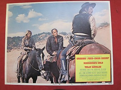 4 lobby cards MACKENNA'S GOLD 1969 GREGORY PECK - OMAR SHARIF - JULIE NEWMAR