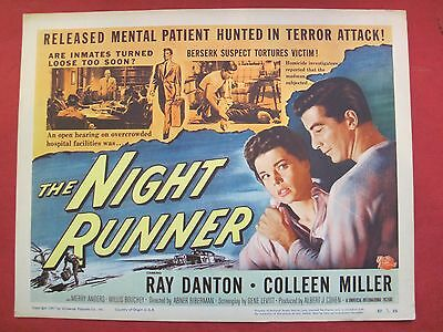 8 lobby cards THE NIGHT RUNNER 1957 RAY DANTON - COLLEEN MILLER - MERRY ANDERS