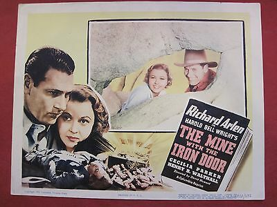 8 lobby cards THE MINE WITH THE IRON DOOR 1952 RICHARD ARLEN - CECILIA PARKER
