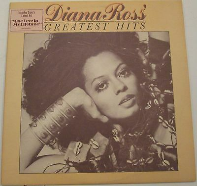 """DIANA ROSS 1976 Greatest Hits 12"""" Motown M6-869S1 Textured LP Soul - Supremes EX"""