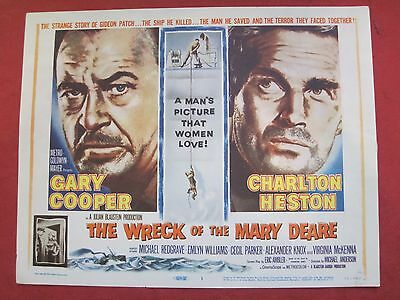 8 lobby cards THE WRECK OF THE MARY DEARE 1959 GARY COOPER - CHARLTON HESTON