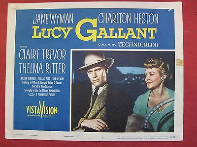 7 lobby cards LUCY GALLANT 1955