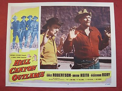6 lobby cards HELL CANYON OUTLAWS 1957 DALE ROBERTSON - BRIAN KEITH