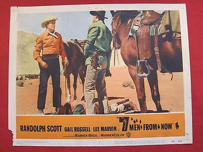 5 lobby cards 7 MEN FROM NOW 1956 RANDOLPH SCOTT - GAIL RUSSELL - LEE MARVIN